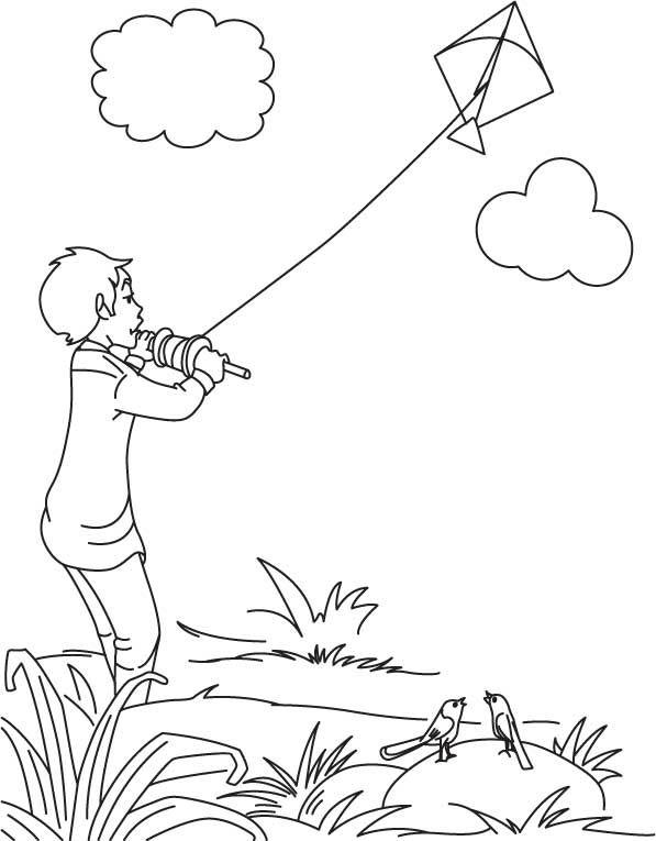 Boy flying a kite Classroom Craft ideas Pinterest