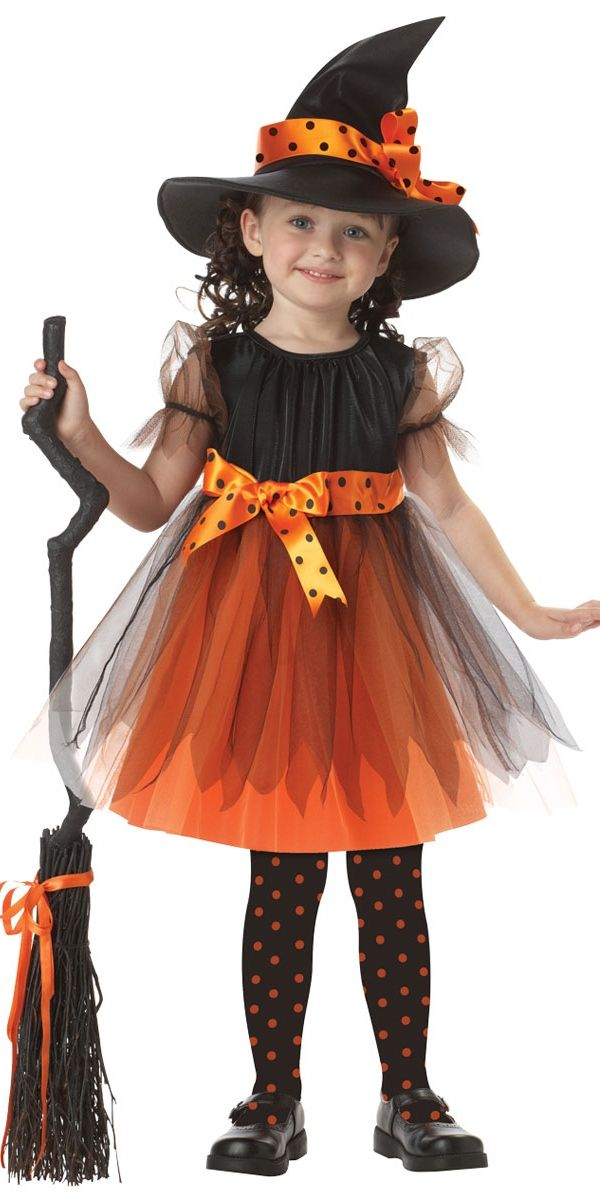 orange charmed witch costume for toddler girls halloween city