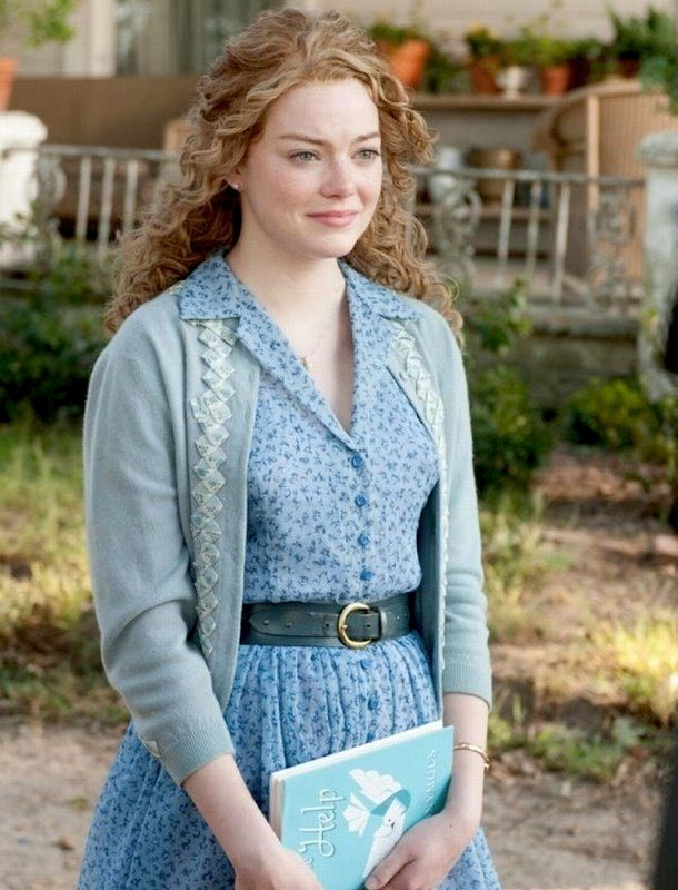 Love her style here. Emma Stone in The Help