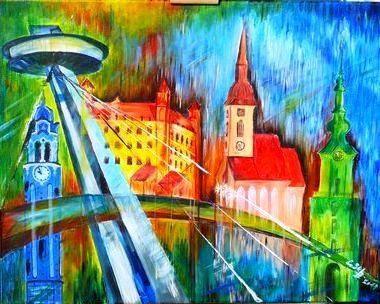 Bratislava, akryl, by Eberika