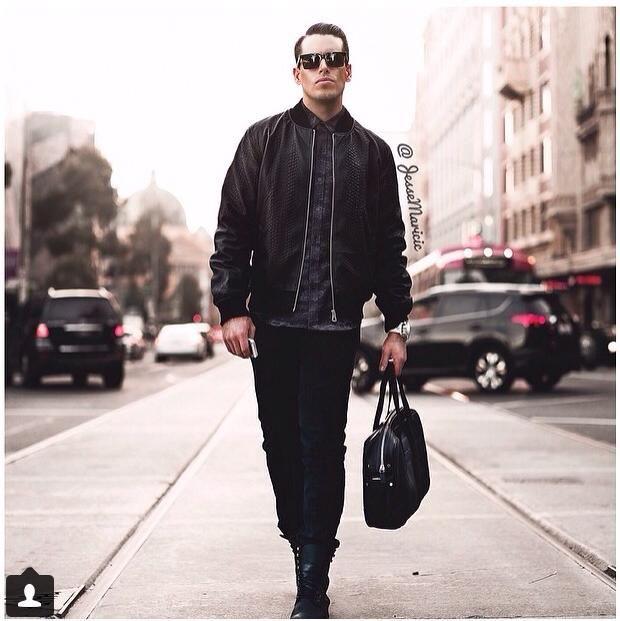 Fashion Blogger- Jesse Maricic Wearing Saxony