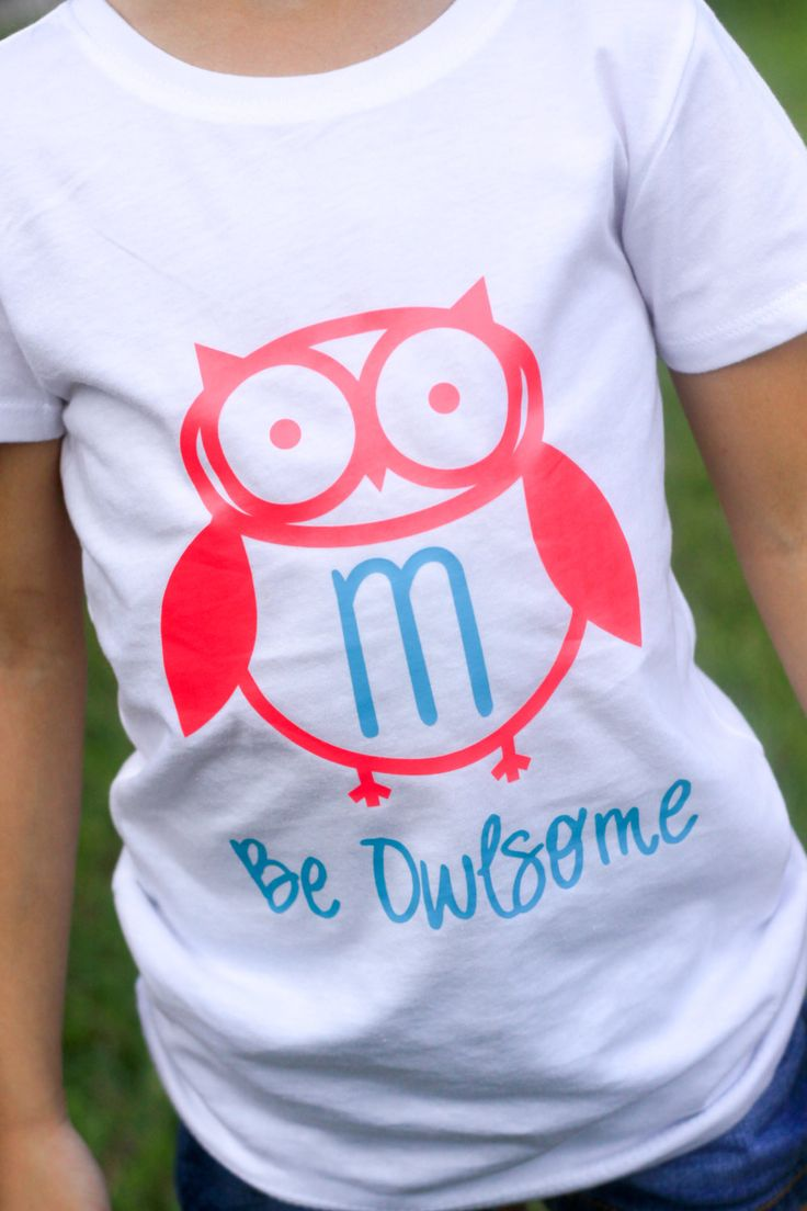 Be Owlsome Owl Shirt for Boys & Girls by CutesyTDesigns on Etsy