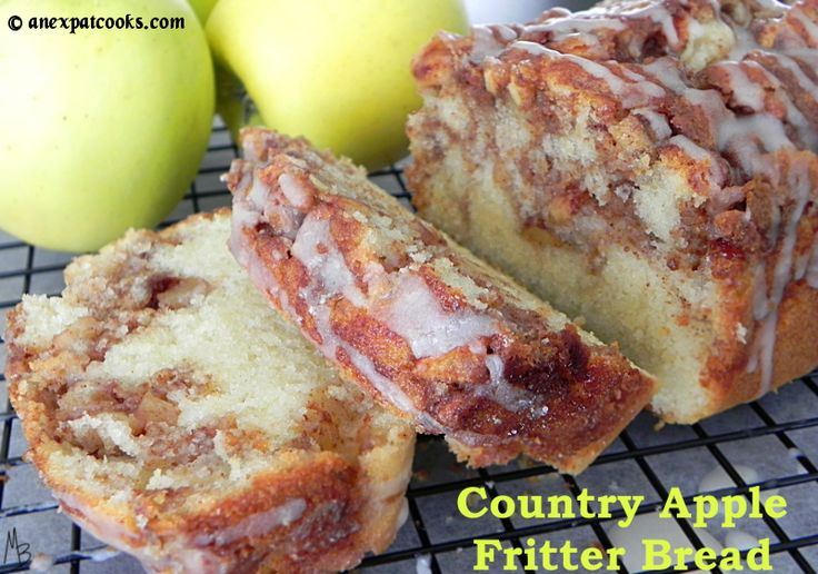 An Expat Cooks : Country Apple Fritter Bread--This bread is insanely moist and chock full of spiced apples. A definite fall staple!
