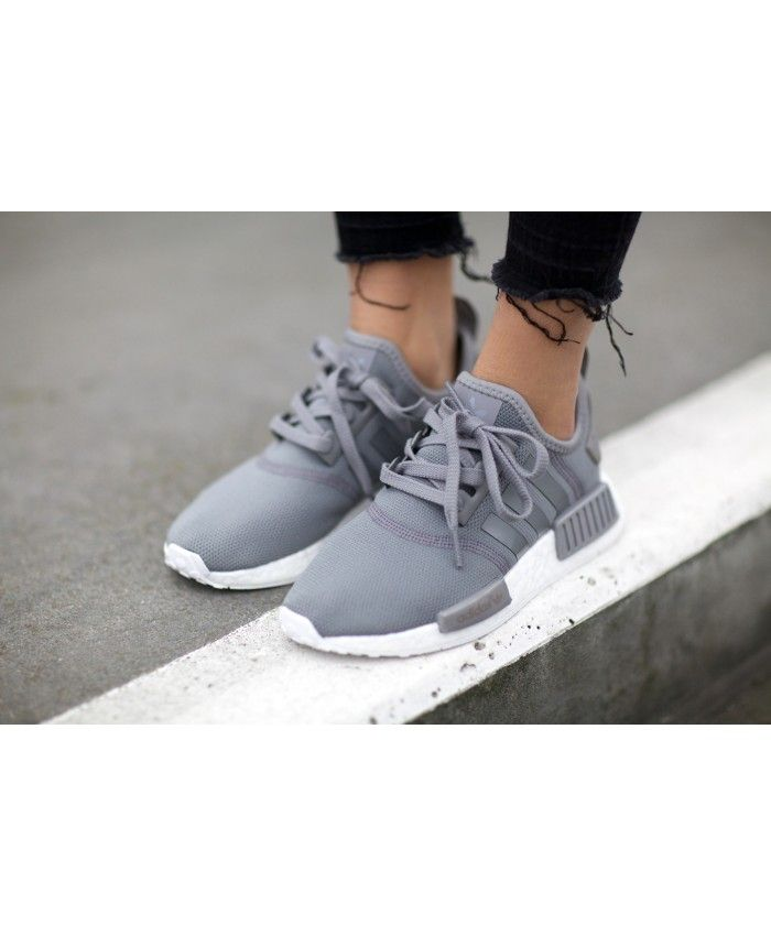 Cheap Adidas NMD Trainers In Grey White Sale Clearance