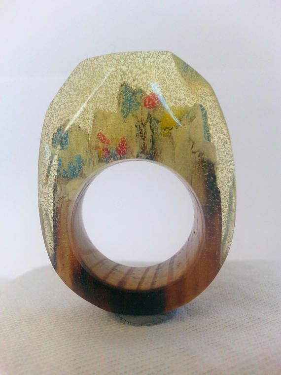 Hey, I found this really awesome Etsy listing at https://www.etsy.com/listing/522930029/wood-resin-ring-snow-ring-resin-wood