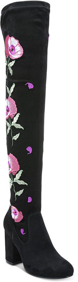Carlos by Carlos Santana Quality Embroidered Over-The-Knee Boots Women's Shoes