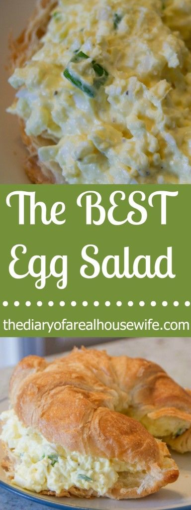 The Best Egg Salad. Really the BEST recipe I have tried. Fluffy and creamy and taste awesome.
