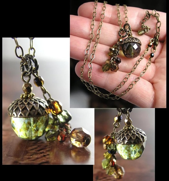335 best images about acorns on pinterest brooches oak for Acorn necklace craft