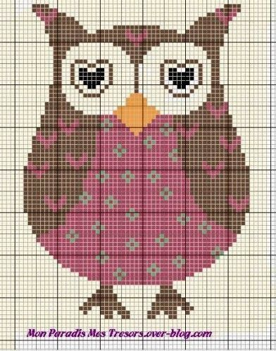 Cross Stitch Craze: Owls - Free Patterns