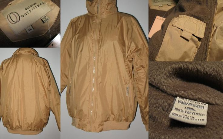 NWT BIG & TALL OUTDOOR OUTFITTERS Insulated Water Resistant Jacket KHAKI 2X #OutdoorOutfitters #JacketCoat