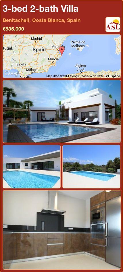 3-bed 2-bath Villa in Benitachell, Costa Blanca, Spain ►€535,000 #PropertyForSaleInSpain