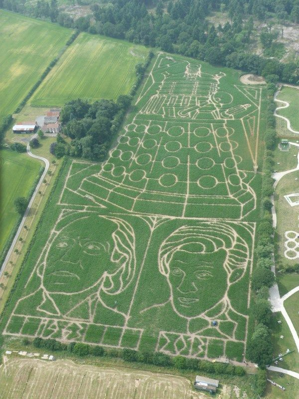 We're Doctor Who mad at the moment, so here's a Doctor Who maze that can be found in North Yorkshire, England!