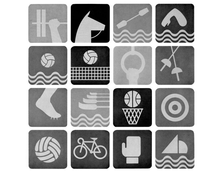 Jeux Olympiques Mexico 1968 Direction artistique: MANUEL VILLAZON. MATTHIAS GOERLITZ Graphistes: LANCE WYMAN. EDUARDO TARRAZAS - Via indexgrafik.fr