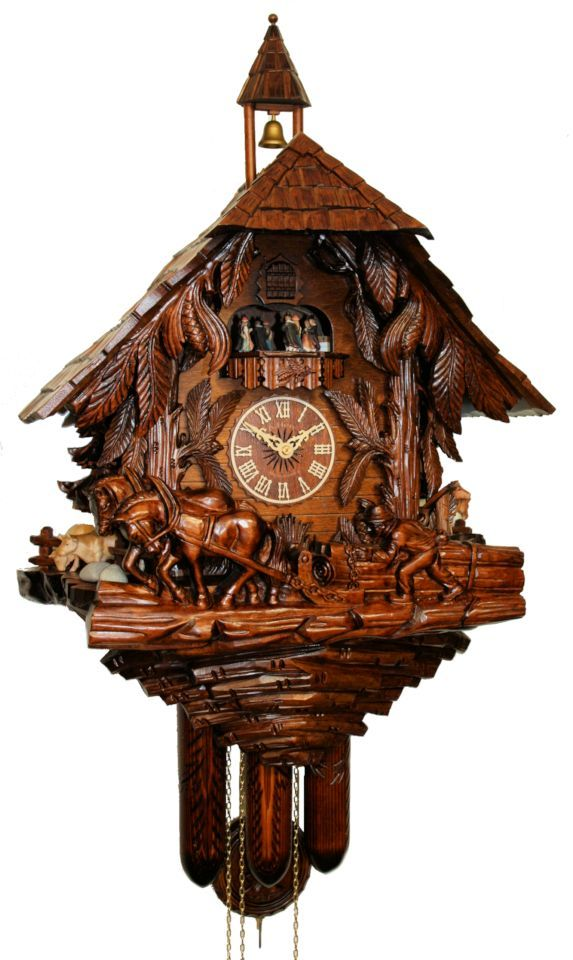 Black Forest Clocks | Adolf Herr Cuckoo Clock - Black Forest House Handcarved - UK-Series ...