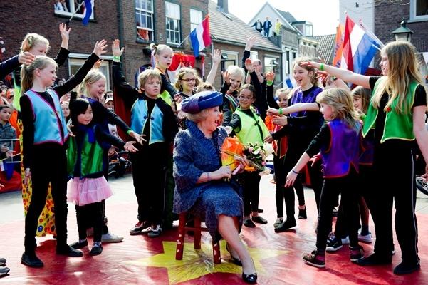 Rhenen, Queens Day 2012, our Dutch Queen Beatrix.