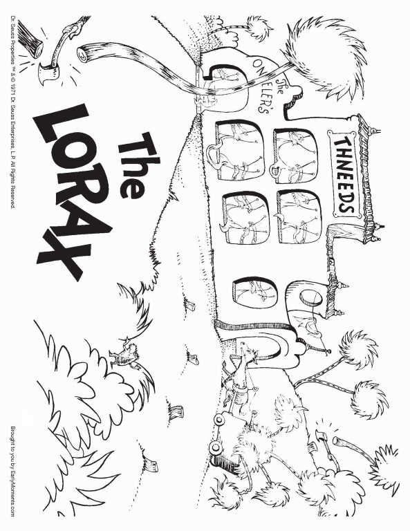 Thneeds Business Lorax Coloring Page In 2020 Dr Seuss Coloring Pages Coloring Pages Inspirational Free Printable Coloring Pages