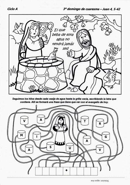 Parroquia La Inmaculada: Fichas para niños: III Domingo Cuaresma, 23 marzo