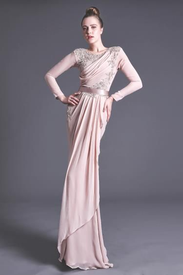 Beautiful blush wedding dress from Nurita Harith