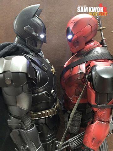 Batman Iron Man and Deadpool Iron Man Face Off as Custom-Made ...
