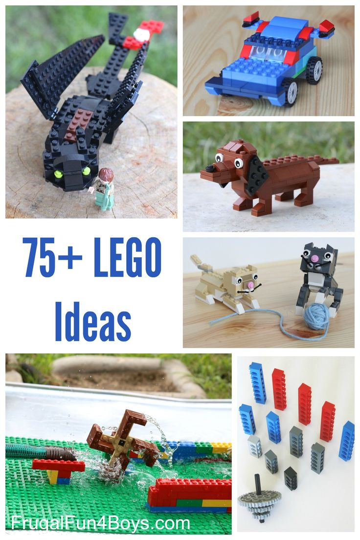 50+ Lego Building Projects for Kids - Engineering projects, building instructions for animals, minions, games, and more!