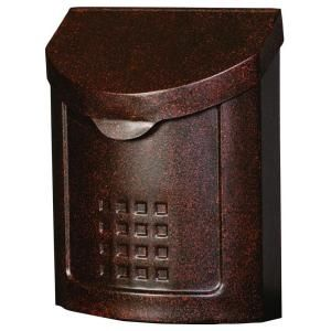 Gibraltar Mailboxes, Lockhart Locking Steel Vertical Wall Mount in Aged Copper, MBK694AC at The Home Depot - Mobile