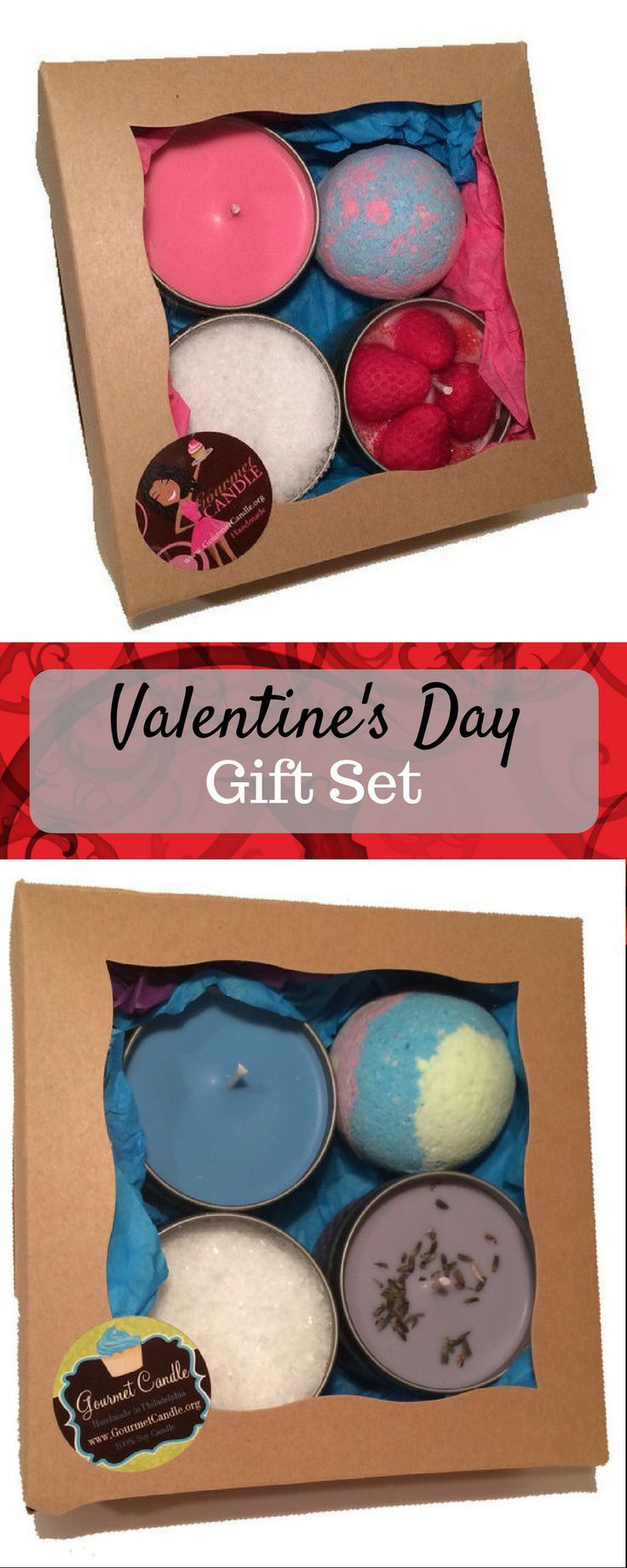 Valentine's Day gift sets - Valentines day gift for her. Great thoughtful gift set for a mini spa or bath set for her or him. Great gift for $25   #valentinesday #holiday #gifts #afflink