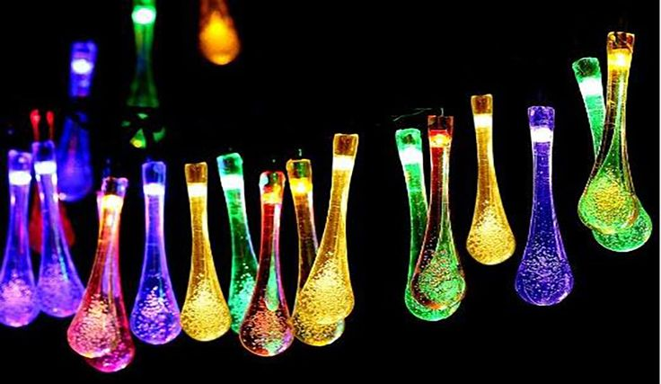 Unique liquid drop look solar lights that will shine for eight hours.You will love the ambiance created by the interesting design of these liquid drop look lights.