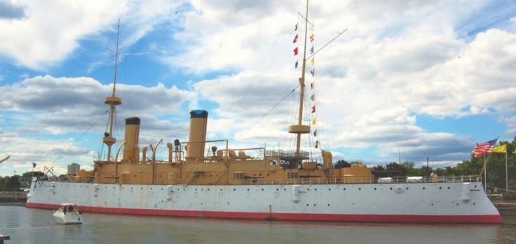 USS Olympia (C-6). The oldest steel-hulled American warship afloat, Olympia served as Commodore George Dewey's flagship during the Battle of Manila Bay on May 1, 1898. - See more at: http://informationdose.blogspot.com/2014/01/uss-olympia.html#sthash.qhFGGFjf.dpuf