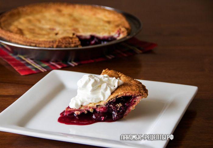 Сладкий вишневый американский пирог