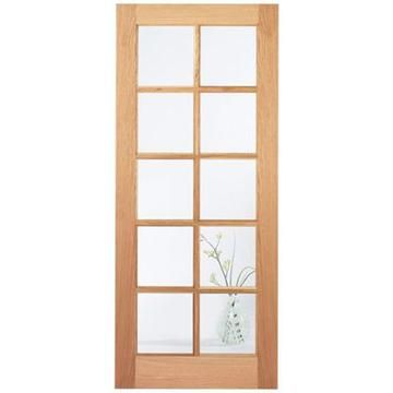Delivery; 48 - 72 Hours and free anywhere on the UK mainland, Islands and exports by arrangement.    The SA 10 pane white oak timber door is a very popular design, all the more so as for a great number of years it was the poor relation to the once very popular 15 pane version. This fully  glazed SA 10 pane white oak door has a simple but pleasing design which includes clear safety glass.  The SA 10 pane white oak door will suit many contemporary interiors as well as  traditional ...