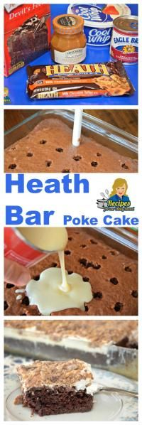 Heath Bar Cake on MyRecipeMagic.com Are you looking for an easy cake made with a cake mix?