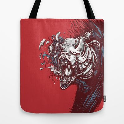 wracked borg Tote Bag by 80kien - $22.00