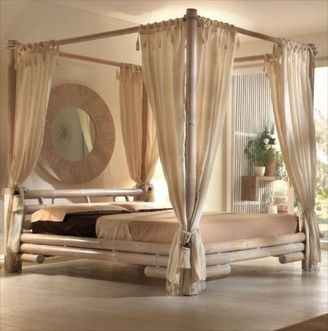 Les 25 meilleures id es concernant lit baldaquin sur pinterest chambre prin - Lit baldaquin bambou ...