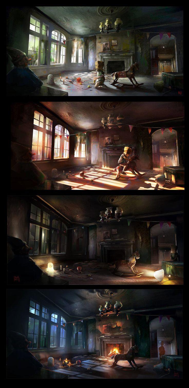 The Playroom . 4 stages , Nacho Yagüe on ArtStation at http://www.artstation.com/artwork/the-playroom-4-stages