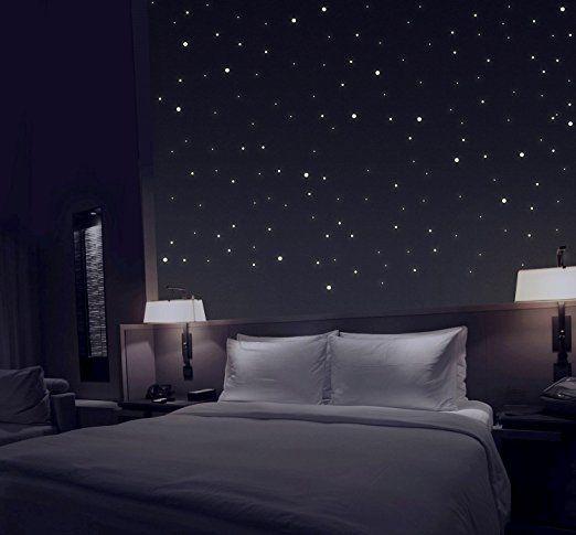 TALINU Sternenhimmel aus 277 Leuchtpunkten mit extra starker Leuchtkraft und langer Leuchtzeit I 2 Jahre Zufriedenheitsgarantie | Leuchtsterne, Leuchtaufkleber, fluoreszierende Wandsticker, Reflektor
