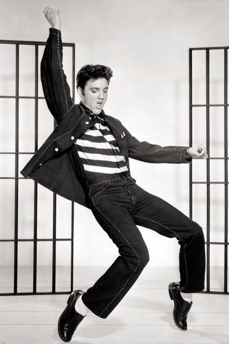 CLASSIC ELVIS jailhouse rock movie still poster SWINGIN' HIPS cool 24X36 Brand New. 24x36 inches. Will ship in a tube. Reproduction of aged original vintage art print. Great wall decor art print at a