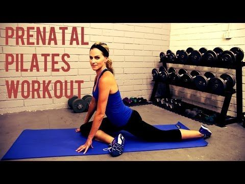 20 Minute Prenatal Pilates Workout - YouTube