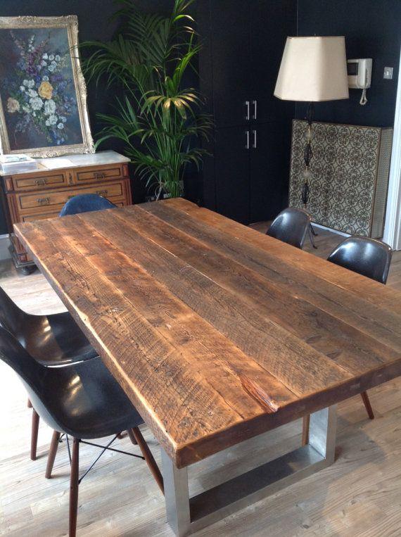 Wood Amp Steel Dining Table Dream Home Pinterest Steel