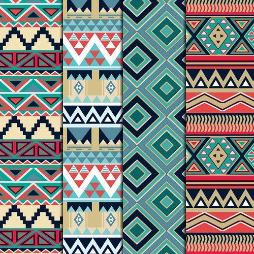 12 motif géométrique de nature tons Aztèques par DigitalMagicShop