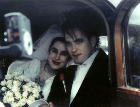 Mary Poole and Robert Smith (of The Cure) met in drama class when they were 14. They wed in 1988.