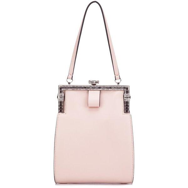 No21 embellished clasp clutch, Rosa/Lila, Leder