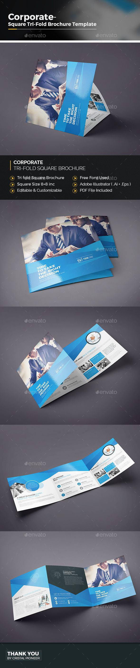 56 best square tri fold brochure images on pinterest | text color, Powerpoint templates