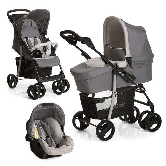 Bei Ausfahrten in die Stadt begeistert der wendige und leichte Shopper SLX - Stone Grey von Hauck. Als Trio-Set erhalten Sie ihn in Kombination mit der dazugehörigen Babywanne und der Babyschale Zero Plus. Mit diesem Komplett-Set sind Sie über einen langen Zeitraum und für jeden Einsatz bestens ausgerüstet.