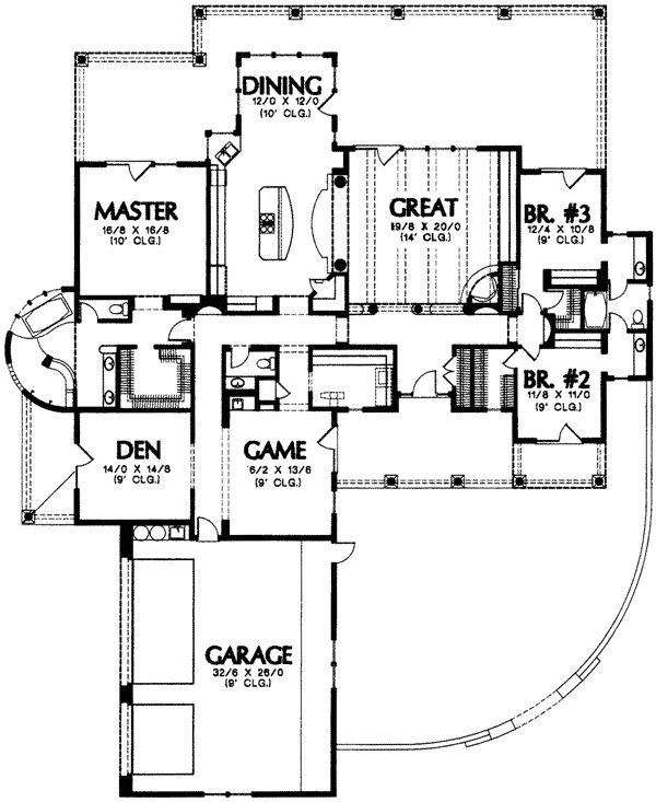Southwestern Style Floor Plans Game Rooms And Floors