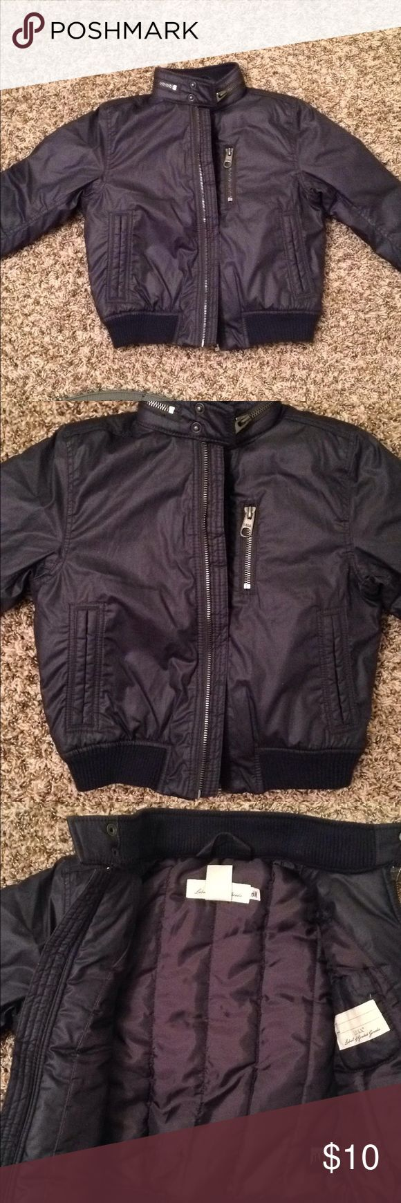 Toddler's Bomber Jacket Size 3T. Brand is L.O.G.G. Purchased from H&M. Dark navy blue bomber jacket. New, without tags! No holes or stains. Smoke free home.  ❤️BUNDLE AND SAVE!❤️ H&M Jackets & Coats