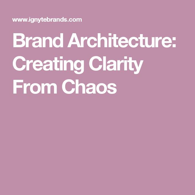 Brand Architecture: Creating Clarity From Chaos