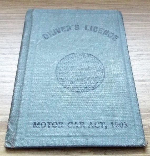 1930 County of Middlesex Drivers Licence  Vintage Driving