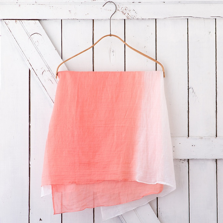 Ombre Coral Scarf at Terrain