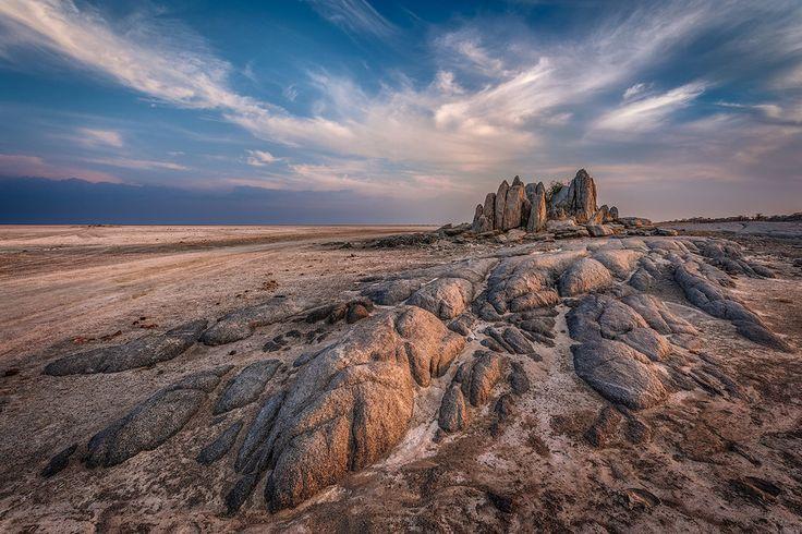 Kubu island, Makgadikgadi pans, #Botswana
