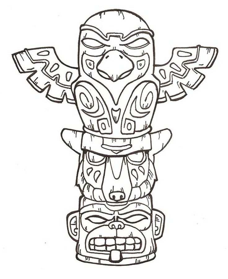 printable totem pole coloring pages coloring me  totem
